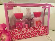 Bath & Body Works Sweet Pea Travel Gift Set mist Lotion Shower Gel Bag