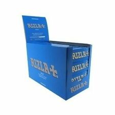 NEW RIZLA BLUE 100 BOOKLETS BOX REGULAR /STANDARD CIGARETTE ROLLING PAPERS