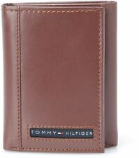 BRAND NEW TOMMY HILFIGER MEN'S LEATHER CREDIT CARD WALLET TRIFOLD TAN 31TL11X033