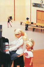 """ Piano Lesson "" Fashion Collectible Photo Card Mattel Barbie Doll Postcard"