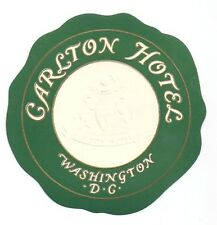 Carlton Hotel Washington DC Luggage Label Gold Embossed Fine