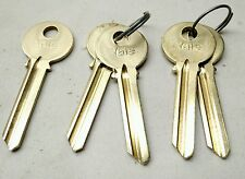 NEW Qty: 5 YALE RN117 7-PIN KEY Blanks, E1R (PARA) Key Section, SOLID BRASS