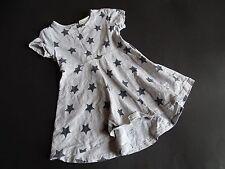 NEXT Super freches Jersey Sommerkleid mit Sternen vorn kürzer Gr.12-18m 86