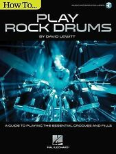 How to Play Rock Drums by David Lewitt (2015, Paperback / Mixed Media)