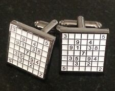 Sodoku Puzzle Cufflinks Designer Gift High Quality Cufflinks Uk Free Gift Pouch