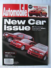 AUTOMOBILE Oct 1998, AUDI TT, BMW M COUPE, JEEP GRAND CHEROKEE, NEW CARS A-Z, VG