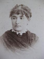 Photographie ancienne de cabinet Portrait femme coiffure Photo Bosch Paris