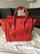 Celine Red Phantom Luggage Medium Leather Tote Handbag
