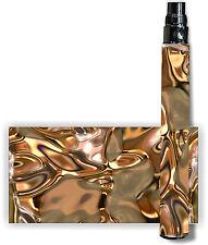 E Cig Battery Skins Buy 1 Get 1 Free! Fits eGo/Other Cover Vapor Wrap Ecig -GOLD