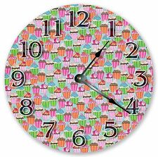 "10.5"" CUPCAKE PARTY CLOCK - Large 10.5"" Wall Clock - Home Décor Clock - 3063"