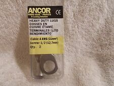 Heavy Duty Marine Grade 252257 Lugs Cable 4 AWG Screw 1/2 2 Pack 2257 New