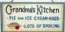 GRANDMAS KITCHEN cute Country Farmhouse Sign Gift Nostalgic