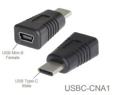 USB Type-C Male to USB Mini-B 5-Pin Female USB 2.0 Adapter, USBC-CNA1