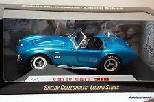 SHELBY AC COBRA SUPER SNAKE - blue met.  1:18 Shelby Collectibles