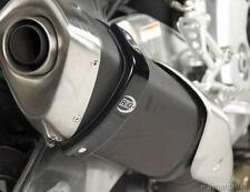 R&G BLACK 'SUPERMOTO STYLE' EXHAUST CAN PROTECTOR for HONDA CROSSRUNNER,to 2014