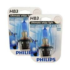 HB3 9005 PHILIPS Diamond Vision 5000K Genuine Ultimate White Light Bulb Headlamp