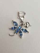 Brides Something Blue Clip On Charm For Bouquet, Bracelet, Garter. Gift. Wedding