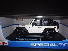 Maisto Jeep Wrangler 2014 White  Willy's Edition 1/18