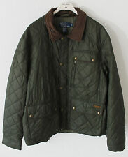 NUOVO POLO RALPH LAUREN MEN'S Cadwell Cappotto Trapuntato Bomber Jacket Dark Green L