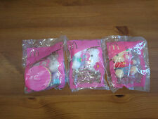 McDonalds Sanrio 2004 USA Happy Meal Hello Kitty Plush Set Lot of 3 New 1 5 6