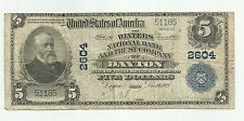 Series of 1902 Large $5 Winters National Bank Dayton Oh Blue Seal Currency Note