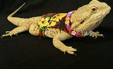 Lil' Bestie Bearded Dragon Harness and Leash ALOHA HAWAIIAN SHIRT