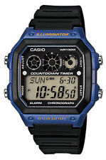 Casio Men's AE-1300WH-2AVDF Black Resin Quartz Watch with Digital Dial