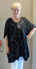 Embroidered Sequined Kaftan Top Hand Made Casual or dressy plus size 16-24 New