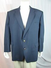 Vintage Cartier Navy Blue Wool Coat, Blazer XL