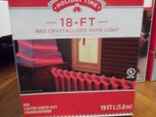 CHRISTMAS HOLIDAY TIME 18 FT. RED CRYSTALLIZED ROPE LIGHT INDOOR/OUTDOOR LIGHTIN