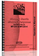 Massey Ferguson 220 220-4 Tractor Operators Manual (MH-O-MF220 and-4)