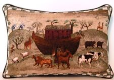 Noah's Ark w/ Animals By Carol Endres Tapestry Pillow- New!