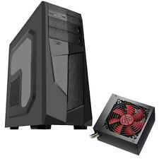 "AVP MAMBA - 750W PSU-ATX BLACK Midi Tower Case con ventana lateral y 2.5"" Compartimientos"