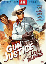 NEW Gun Justice Featuring The Lone Ranger: 50 Episodes (DVD, 2012, Tin Box)