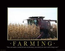 Farming Motivational Poster Art Print Poster Farmall IH Tractor 11x14 MVP45