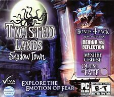 TWISTED LANDS SHADOW TOWN Hidden Object 4 PACK PC Game CD-ROM NEW