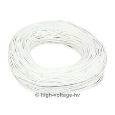 10ft. 15KV DC 17AWG White High Voltage Wire Cable HV Stranded