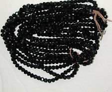 300 Jet Black Antique 4mm ENGLISH ROUGH CUT Glass Beads 6bpi DEAL OF THE MONTH!
