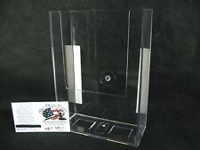 """5"""" x 7 1/16"""" Crystal Clear Acrylic Wall-Mount Brochure Holder for Office, Stores"""