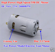 DC 9.6V-12V 24000RPM High Power High Speed 550 DC Motor for Electric Tools DIY