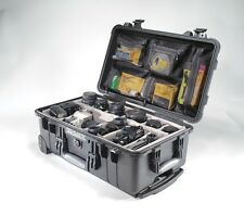 Black Pelican 1510 Case 1514 with Padded dividers+ Free nameplate+ Lid Organizer