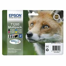 Epson 4 Original INK CARTRIDGES T1281 T1282 T1283 T1284 PRINT CARTRIDGE T1285