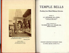 """A.J. APPASAMY - """"TEMPLE BELLS: READINGS FROM HINDU RELIGIOUS LITERATURE""""1939)"""