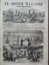 """LE MONDE ILLUSTRE 1859 N 97 AU  THEATRE DU CIRQUE IMPERIAL """" MAURICE DE SAXE """""""