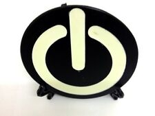 Glow In The Dark Power On Icon Belt Buckle UK Seller + Free Buckle Stand