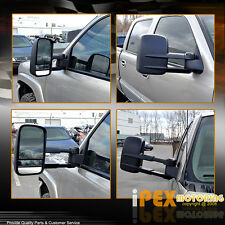 1999-2002 GMC Sierra Chevy Silverado HEAT+POWER+TELESCOPING Towing Side Mirrors
