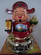 "10""H Chinese Fengshui Mammon Money Wealth God Hold Yuan Bao Statue"