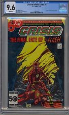 CRISIS ON INFINITE EARTHS #8 CGC 9.6 WHITE PAGES DEATH OF FLASH