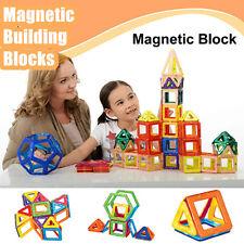 76PCS 3D Magnetic Blocks Construction Building Enlighten Educational Toy Puzzles