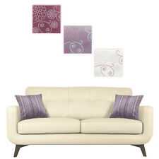 3 Piece Embroidered Canvas Wall Art Picture Modern Chic Hanging Multi Panels NEW